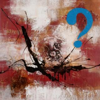 QUESTION MARK BLUE von WEBER Albert