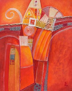 Aufbau rot von CHRISTL El-Friede