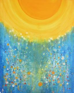 Sparkling Blue von CHRISTL El-Friede