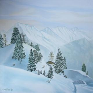 Winterlandschaft_2 von Ludwig Fleidl