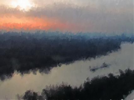 Morgen an der Donau von WIESER Kurt