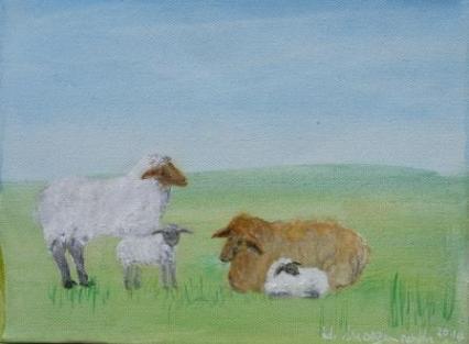 Familie Schaf von MORGENROTH Ulrike
