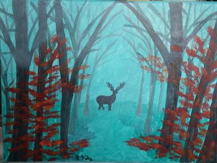 Herbstnebel im Wald von Birgitt Filz