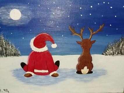 warten auf Weihnachten von Birgitt Filz