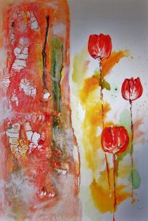 Wandblumen von  Jasu