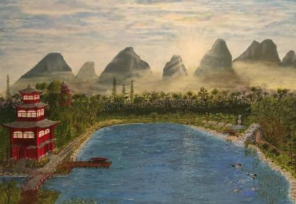 Asiatische Landschaft von Martin Jordan