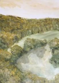 Flusslandschaft von oben von RANKL Barbara
