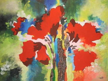 Rote Blumen von JüNGST Rudi Ewald