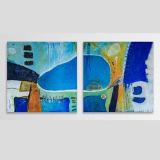 "Abstraktes Acryl Gemälde ""Travel"" Unikat von HOFER Gabriele"