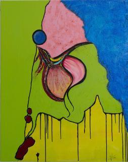 """Acryl Gemälde """"Loft Gewitter? Unikat von HOFER Gabriele"""