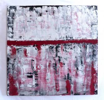 """Acryl Gemälde – """"GEO RED & BLACK"""" Unikat von HOFER Gabriele"""