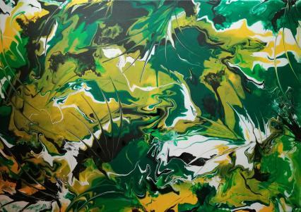 Grünes Farbenspiel von HäNTZSCHEL Jutta