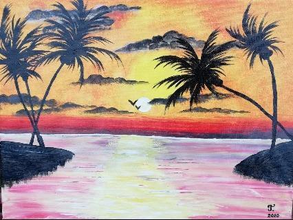 Tropischer Sonnenuntergang von KOVAC Tadeja