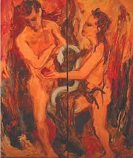 Adam und Eva von Oswald KOLLREIDER