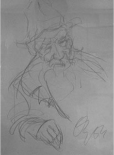 Studie zum alten Bauern von Oswald KOLLREIDER