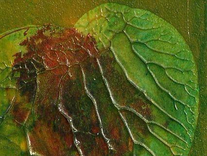 Herzspur- im Blumenteich (Ausschnitt) von NYIRADY Christine
