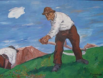 Bergmäher modern von UNTERTROGER Franz